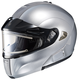 Metallic Silver IS-MAX BTSN Helmet w/Electric Shield
