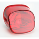 Red Laydown Taillight Lens w/No Tag Window - 2010-0781