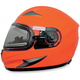 Safety Orange FX-90S Snow Helmet w/Electric Dual-Lens Snow Shield