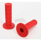 Red Half Waffle MX Single-Ply Grips - H01RFR