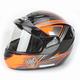 Orange/Black/Silver CS-R2SN MC-6 Seca Helmet with Framed Dual Lens Shield