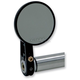 Black Round Bar End Mirror w/Straight Stem - 09-312-DB