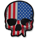 USA Flag Skull Embroidered Patch - LT30180
