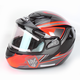 Orange/Black/Silver CS-R2SN MC-6 Seca Helmet with Framed Electric Shield
