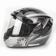 Dark Silver/Black/Silver CS-R2SN MC-5 Seca Helmet with Framed Dual Lens Shield