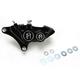 Direct Bolt-On 4-Piston Contrast Cut Left Caliper - 0053-2915-BM