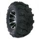 Rear Right Machined Black 387X Tire/Wheel Kit - 0331-1152