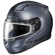 Matte Anthracite CL-17SN Streamline MC-5F Snowmobile Helmet w/Dual Lens Shield