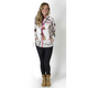 Womens APHD Snow Camo Elevation Fleece Zip-Up