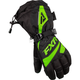 Womens Black/Lime Fusion Gloves