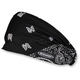 Black/White Paisley Mini Doo-Z Headwrap - DZ02-100