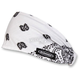 White/Black Paisley Mini Doo-Z Headwrap - DZ02-208