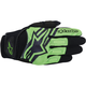 Black/Green Spartan Gloves