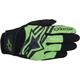 Black/Green Spartan Gloves