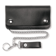 Black Leather Five Pocket Wallet - 638