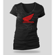 Womens Black Abstract Wings T-Shirt