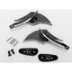 Black Billet Scimitar Blade Mirrors - S10300B