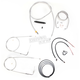 Stainless Braided Handlebar Cable and Brake Line Kit for Use w/15 in. - 17 in. Ape Hangers - LA-8110KT2B-16