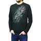 Black Team Print Long-Sleeve Shirt