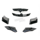 Gloss Black Vent Kit for Bell Vortex/Revolver Helmets - 2035451