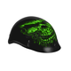 Matte Black/Green Shredder Skull Helmet