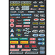 Sport Bike Micro Sponsor Sticker Sheet - 15-68002