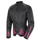 Womens Black/Pink Heartbreaker 3.0 Textile Jacket