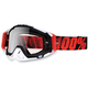 Red/Black Racecraft Goggles w/Clear Lens - 50100-013-02
