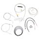 Stainless Braided Handlebar Cable and Brake Line Kit for Use w/15 in. - 17 in. Ape Hangers - LA-8220KT2-16