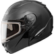 Black GM64S Modular Snowmobile Helmet with Dual Lens Shield