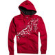 Red Schematica Zip Hoody