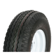 K353 6-Ply 5.70-8 Tire W/4-Hole Solid Wheel Assembly - 30120