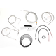 Stainless Braided Handlebar Cable and Brake Line Kit for Use w/12 in. - 14 in. Ape Hangers w/o ABS - LA-8210KT2B-13