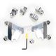 Polished Trigger-Lock Hardware Kit for Cafe Fairing - MEK1995