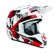 White/Black/Red Verge Block Helmet