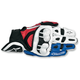 White/Red/Blue GPX Leather Gloves