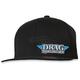 Black Drag Specialties Flat Bill Hat - DRG23H12BKOR