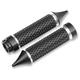Black Anodized Cross Cut Deadend Grips - TC-768B