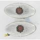 Large Flat Oval Flush Mount Marker Lights - Single Filament - 25-8276