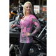 Womens Pink Inferno Burnout Long Sleeve T-Shirt