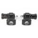 Gloss Black Dogbone Handlebar Risers - NYC-26-BK