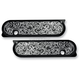 Black Engraved Dresser Saddlebag Latch Covers - 03-581