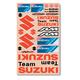 Universal Suzuki Sticker Kit - N30-180