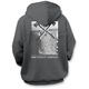 Gray Woodblock Zip Hoody
