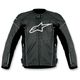 Black/White TZ-1 Reload Perforated Leather Jacket