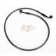 Black Pearl Designer Series 60 Degree Top Angle Custom Single-Disc Front Brake Line - 46642SW