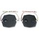 Black Fairing Speaker Grilles - HCRK-GRTM