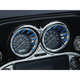 Chrome Speedo and Tach Bezels w/Blue LED Lighting - 7289