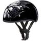 Black Cross Bones Skull Cap Half Helmet