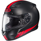 Black/Red CL-17 MC-1F Streamline Helmet
